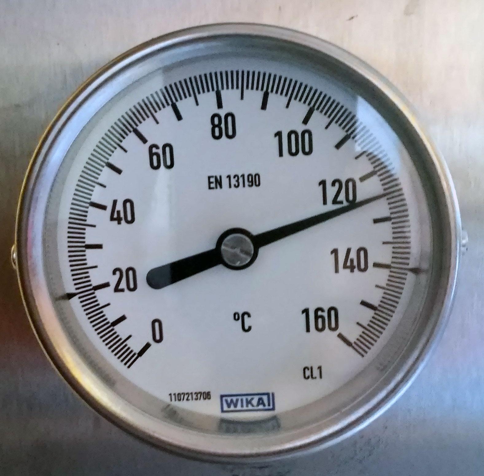 Termometr mierzący temperaturę w komorze wosku